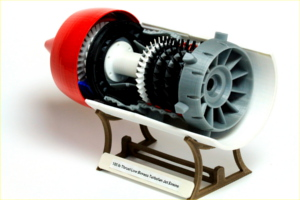 Turbine model from the 3D printer