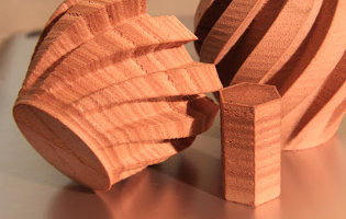 ground parts of Wood in 3D FDM printing procedure