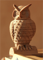 Owl from wood in the 3D printing FDM procedure